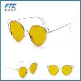 Châssis métallique rétro lunettes de soleil Lunettes vintage ronds Lunettes de plein air