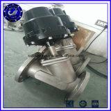 二重処置のステンレス鋼SS316 SS304 Pn16制御フランジの角度のシート弁