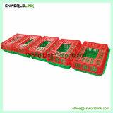 Cestino del pollo di trasporto della struttura della maglia dell'azienda agricola pp