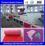 Double en PVC de couleur de la beauté extrudeuse monovis de tapis en soie de pulvérisation