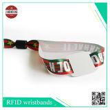 Sublimación banda de satín con RFID duro etiqueta de PVC