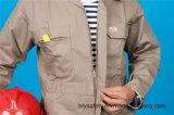 Vêtements de travail de combinaison de qualité de sûreté de chemise du polyester 35%Cotton de 65% longs (BLY1024)
