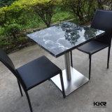 非放射新しいデザイン大理石パターン固体表面のテーブルの上