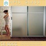 China 6/8/10/12m m heló el vidrio endurecido impresión semitransparente para el vidrio de la puerta del cuarto de baño