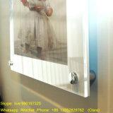 Изготовленный на заказ ясной установленная стеной акриловая рамка плаката