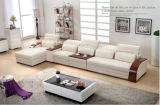Sofa di legno con Genuine Leather per Home Sofa