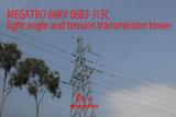 Megatro 66kv 06b3-J1 Sc 가벼운 각 및 긴장 전송 탑