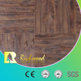 настил белого дуба 12.3mm E0 AC4 прокатанный Teak деревянный Laminate