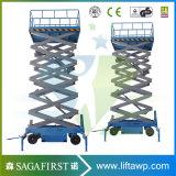 plate-forme électrique de Skylift de levage pilotée par individu mobile de 12m