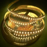 Ce/RoHS certificado único color SMD2835 regulable de 14,4 W/M de tira de LED flexible