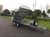 10X5 10X6 12X7 de Hete Ondergedompelde Gegalvaniseerde Hydraulische Aanhangwagen van /Farm van de Aanhangwagen van het Nut van de Aanhangwagen van de Doos van de Kipper