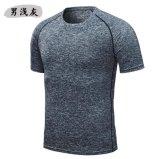 남자 형식 t-셔츠 2018년 보디 빌딩과 적당 남자 체조 간결 소매 t-셔츠
