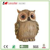 Polyresin precioso bosque grande Owl escultura para el hogar y decoración al aire libre, personalizar la estatua del jardín