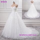 Späteste Blumen-Spitze-weißes Brautkleid-Hochzeits-Kleid des Entwurfs-3 D