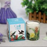Banheira de vender soja perfumada vela no jarro de vidro