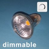 Vidro de intensidade regulável Spotlamp LED MR16 COB 5W com reflector