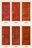 Portello di legno del doppio solido del teck della natura per la villa (YH-1001-1)