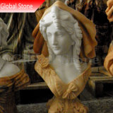 La sculpture en pierre statue en marbre Buste de tête (GSBST-122)