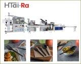 ナプキン製歯磨き粉 PLA カトラリーキット 4 面シーリングマシン