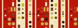 100%Polyester de Afgedrukte Stof van de combinatie Pigment&Disperse voor de Reeks van het Beddegoed