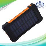 Paquete portable de Bateria Externa del cargador del USB de la batería de la energía solar del recorrido de la potencia de la batería externa dual de la batería 20000mAh para el teléfono móvil