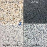 Granito naturale bianco giallo nero grigio di G603/654/G664/Rusty