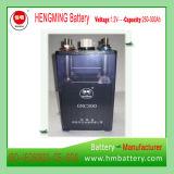tipo aglomerado 1.2V bateria alcalina recarregável Ni-CD Gnc250 para começar de motor