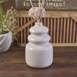 Bouteilles diffuses en céramique glaçantes blanches mates d'arome de modèle de calebasse