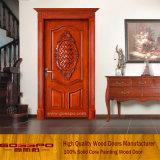 Tallando la puerta de entrada de madera sólida del diseño de la puerta (XS2-020)