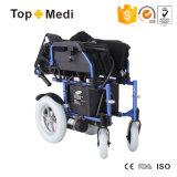 Topmediの健康の製品の横たわる折る電動車椅子中国