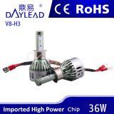 3600lm Aluminiumscheinwerfer H3 des material-LED mit Cer RoHS PUNKT