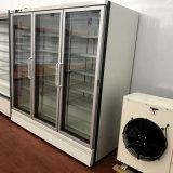 Compresor Remoto Tienda de Conveniencia Excelente Diseño Refrigerador Vertical de Puerta de Vidrio