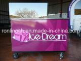 Laminatoio del gelato/rullo del gelato/macchina fritta vaschetta quadrata del gelato della frittura/rullo istante del gelato/Ce freddo fritto del carrello di Icream/del carrello piatto del gelato