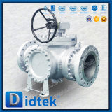 Brida de acero al carbono Didtek Válvula de bola de tres vías