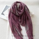 2017 Commerce de gros points ondulée naturel mince Linge de maison/coton imprimé Fashion foulard (HWBLC201)
