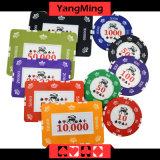 Schürhaken-Chips des Lehm-760PCS eingestellt/Kronen-Lehm-Kasino-Chips eingestellt für spielendes Spiel mit Aluminiumfall Ym-Sghg004