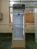 refrigerador de vidro aprovado da porta do Ce 360L único com rodas