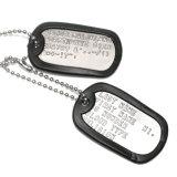 Étiquette nommée de crabot en métal militaire fait sur commande d'étiquettes pour la promotion