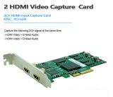 Double carte de capture de conférence vidéo HDMI 1080p/60 Vmix / Xsplit / VLC / Virtualdub / Vidblaster / Obs Live Streaming Jeu Vidéo sur le Web Carte d'enregistrement pour PC