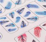Цветастый стикер ногтя стикеров искусствоа ногтя переноса воды картины пера