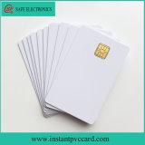 Le double dégrossit carte imprimable de PVC de la puce Sle4442