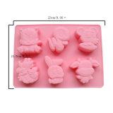 La FDA délivrent un certificat le moulage matériel de gâteau de silicones de catégorie comestible, moulage Shaped animal de gâteau de silicones