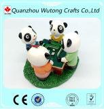 Figurine domestico del ricordo della resina di Mahjong del panda della decorazione