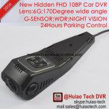 New Hidden Mini Car Dash Camcorder Construído em 5.0mega Car Camera, Novatek Ntk96650 CPU, WDR, G-Sensor, GPS Tracking, WiFi para Controle de Telefone Móvel DVR-1519