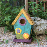 De Decoratie van de Tuin van het Ijzer van de Vorm van het huis, maakt Uw Eigen Decoratie van de Tuin