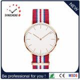 Il quarzo dell'orologio di sport di modo guarda la vigilanza di signore degli uomini d'acciaio (DC-474)