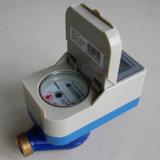 Medidor de água esperto do corpo de bronze, medidor de água pagado antecipadamente do cartão do CI