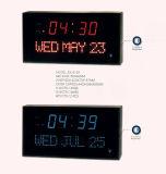 Grande DEL Digital de compte de Mateiral horloge de mur acrylique vers le bas pour le bureau et la maison