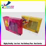 Caixa de empacotamento ajustada do cosmético com indicador plástico