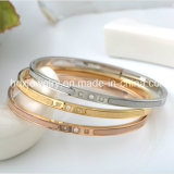 Creative Inspire Couple en acier inoxydable Bracelet Bangle Mode bijoux